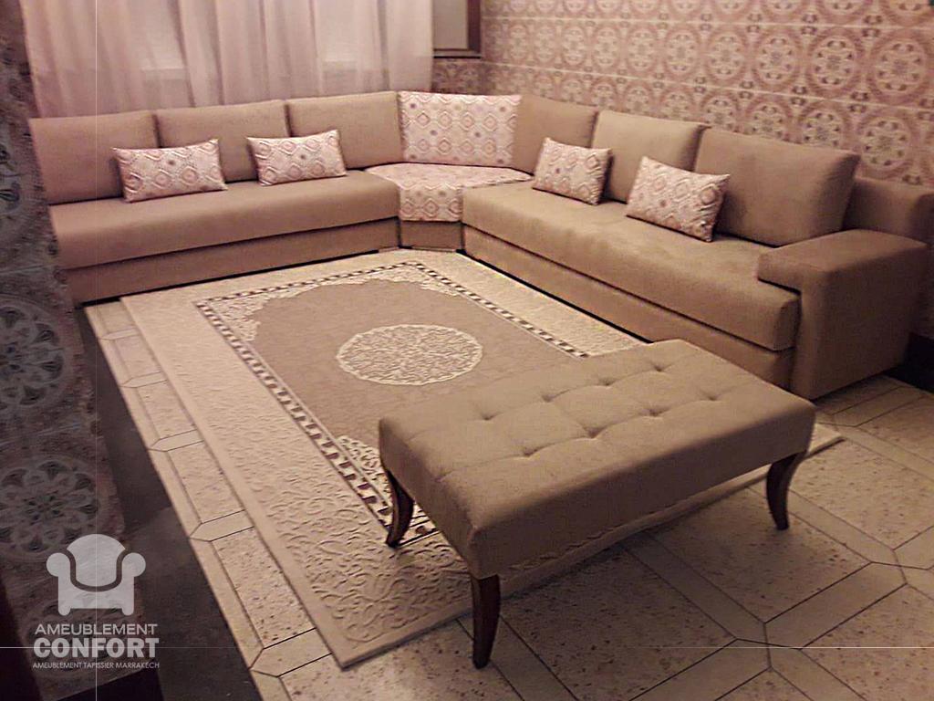 Salon moderne en tapissier a Marrakech